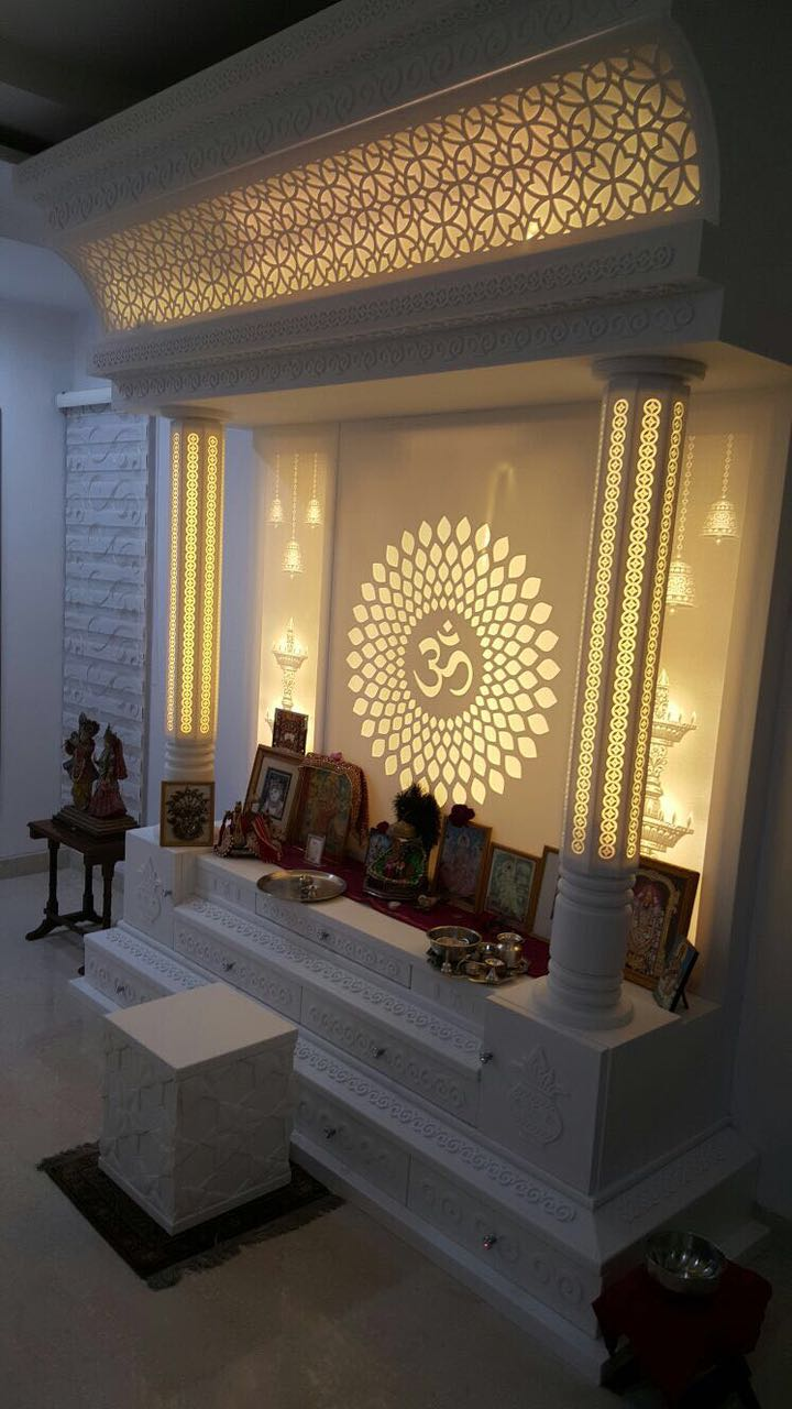 Mandirs marbonex for Design of mandir in living room