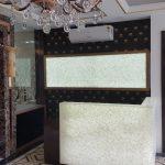 Flora Stone Reception Area – Ceramo, Gurgaon